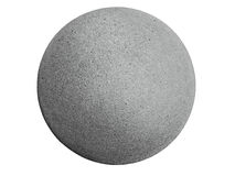 Cement sphere. Closeup of a concrete sphere isolated on white with clipping path Stock Photos