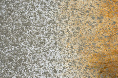 Cement spray rust. On a metal white sheet Stock Photography