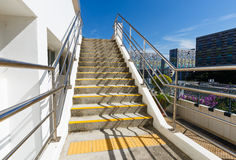 Cement staircase. Outdoor Cement staircase with blue sky Royalty Free Stock Photography