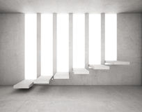 Cement Stairs highlighted on opening concrete Royalty Free Stock Photo