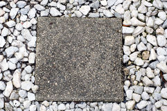 Cement stepping stone Royalty Free Stock Photography