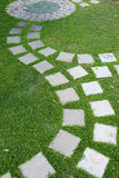 Cement stone pathway Royalty Free Stock Images
