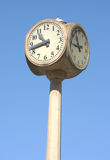 Cement Street Clock Royalty Free Stock Photography