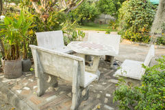 Cement table top garden park relax green concept Royalty Free Stock Photography