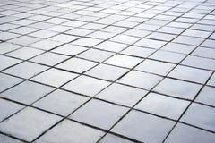 Cement tile block floor texture background. Royalty Free Stock Photo