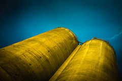 Cement Towers. Towers containing powdered cement for the construction industry Royalty Free Stock Photo