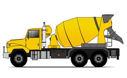Cement truck Stock Photography