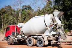 Cement truck. Royalty Free Stock Image