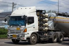 Cement truck of Just in time express Logistic company. Stock Photos