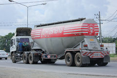 Cement truck of Tib Phipat company. Royalty Free Stock Image