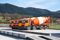 Cement trucks Royalty Free Stock Photos