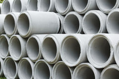 Cement Tubes Stock Photography