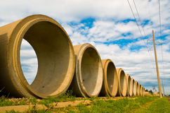 Cement Tubes Royalty Free Stock Photo