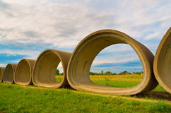 Cement Tubes Royalty Free Stock Photos