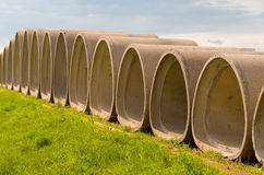Cement Tubes Stock Photos
