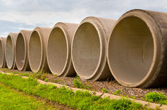 Cement Tubes Stock Image