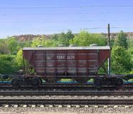 Cement wagon 1. An industrial train car view royalty free stock photo