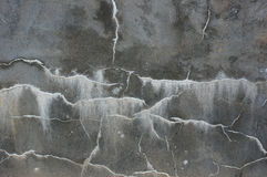Cement wall. Detail cracks in the cement walls Royalty Free Stock Photo