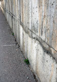 Cement wall. And asphalt Stock Photos