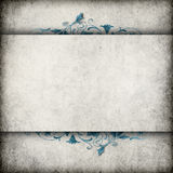 Cement wall banner with flourish Royalty Free Stock Photo