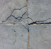 Cement wall with crack Royalty Free Stock Photo