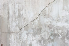 Cement wall with cracks, and loose pieces of paint dirty texture Royalty Free Stock Image