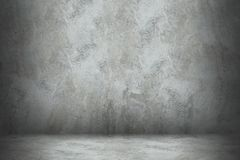 Cement wall and floor with shadow for design.  royalty free stock photos