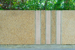 Cement wall in the garden Stock Photography