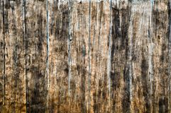 Cement wall imitate wood. In Thai house Stock Photo