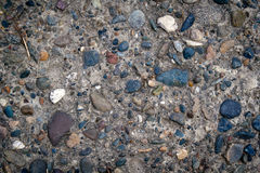 Cement wall with pebble Stock Image