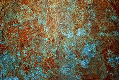 Cement wall. With red and brown color Royalty Free Stock Photo