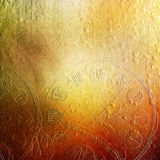 Cement wall with relief pattern colorful clockwork. Royalty Free Stock Photos