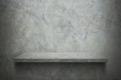 Cement wall with shelf for pattern. It is cement wall with shelf for pattern Stock Photo