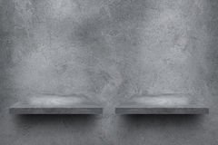 cement wall with shelves and shadow for pattern Royalty Free Stock Photo