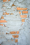 Cement wall show red brick Stock Images