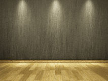 Cement wall and wooden floor Royalty Free Stock Images
