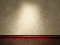 Cement wall and wooden floor. The old grey cement wall and wooden floor royalty free illustration