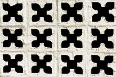 Cement white wall with hole pattern Royalty Free Stock Photos