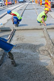 Cement workers Royalty Free Stock Images