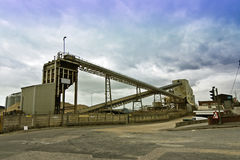 Cement works. A cement works in an industrial port Royalty Free Stock Image