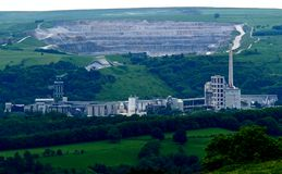 Cement Works. Stock Photography