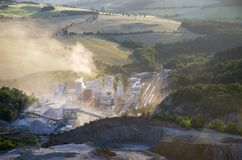 Cement works Stock Image