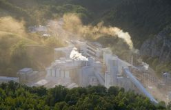 Cement works Stock Images