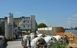 Cement works Stock Photo