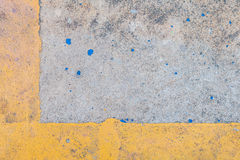 Cement yellow line Stock Photography