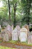 cementary捷克犹太布拉格共和国 图库摄影