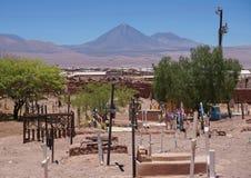 Cementary,圣佩德罗火山de阿塔卡马,智利 免版税库存照片