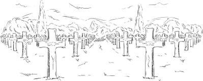 Cementary amerikan Arkivfoton