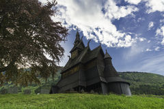 Cementary e chiesa di Hopperstad Fotografie Stock