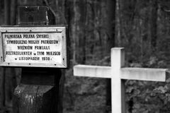 Cementary of Memory. Second World War in Palmiry, Poland Stock Photo